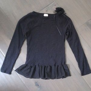 Body Wrappers Ballet Lace Pullover black 12-14